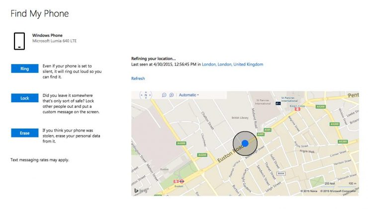 See your lost Windows phone on a map via Microsofts free Find my phone service