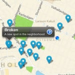 Foursquare location tracking on a map via iPhone