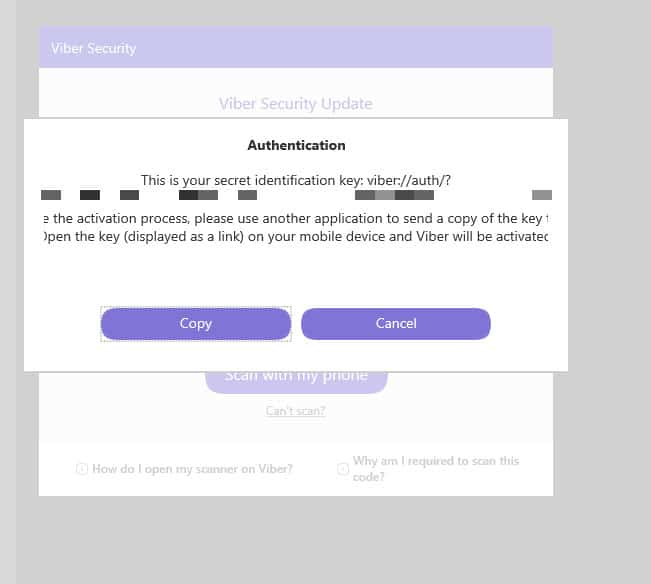 activate viber desktop without qr code